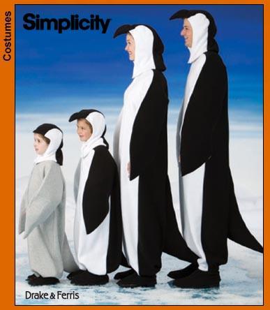 Simplicity Penguin Costume 3639