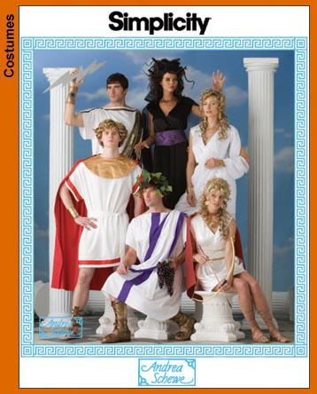 Simplicity 3647 Costumes: Variety of Togas Misses, Men and Teen Boys Costumes