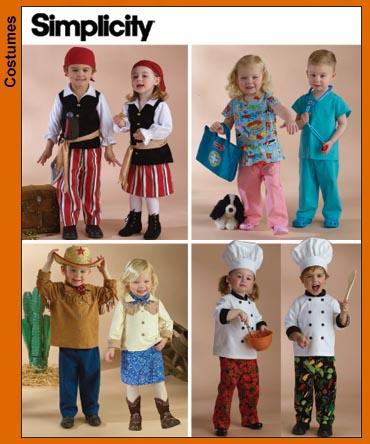Simplicity Toddler Costumes 3650