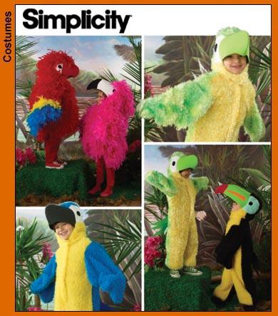 Simplicity Child Bird Costumes 3663