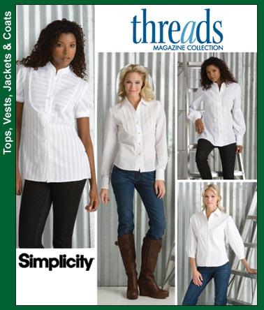 Simplicity Bib Front Shirt 3684