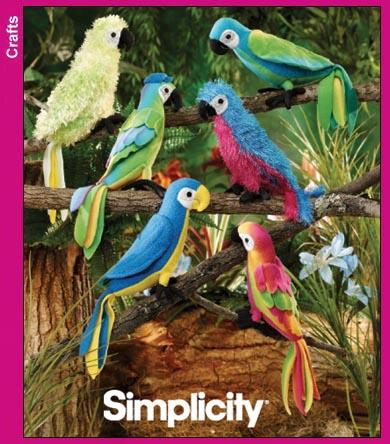 Simplicity Stuffed Parrots 3691
