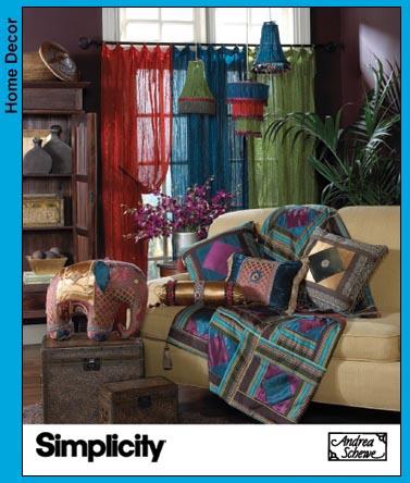 Simplicity Living Room Dec w/Exotic Flair 3693