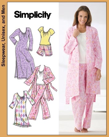 Simplicity Misses Knit Nightgown 3696