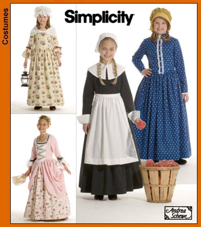 Simplicity 4 Girl's historic costumes 3725