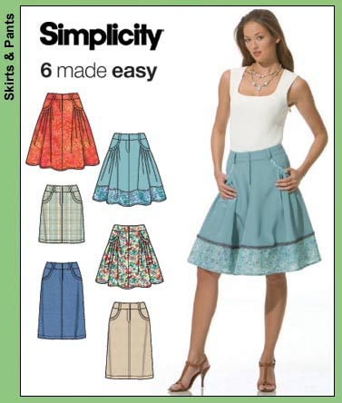 Simplicity 6 (Skirts) Made Easy 3754