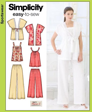 Simplicity pants, tops & kimono top 3760