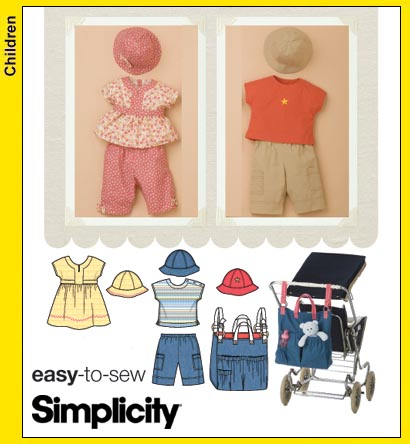 Simplicity Babies Dress, Top, Pants 3765