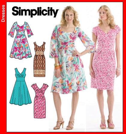 Simplicity Misses Dresses 3774