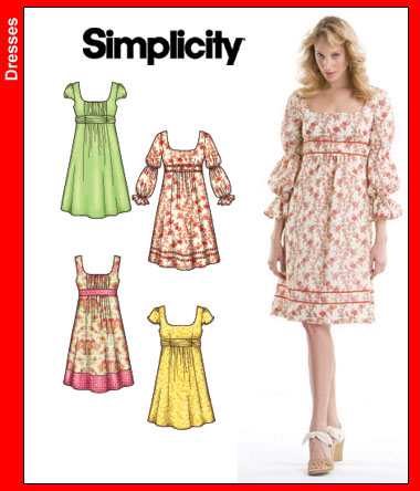 Simplicity Misses Dresses 3777