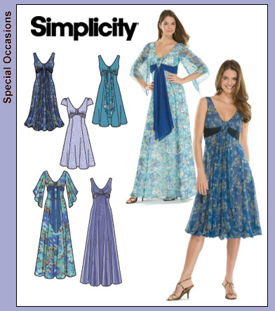 Simplicity Misses Special Occasion Gowns 3785