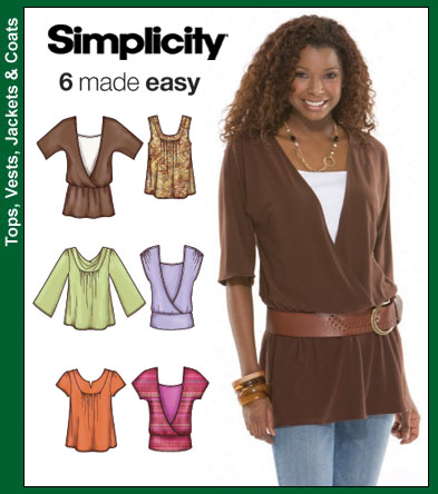 Simplicity Misses Knit Tops 3790