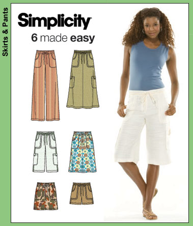 Simplicity Skirts, Pants, Shorts 3796