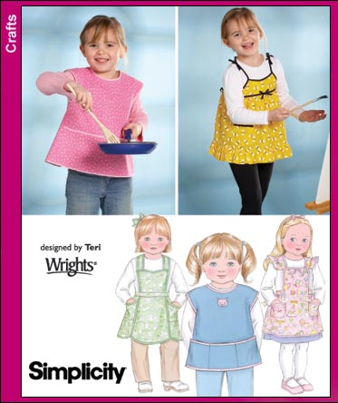 Simplicity Aprons for Children 3802