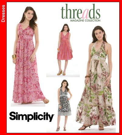 Simplicity Threads Day Gown 3803
