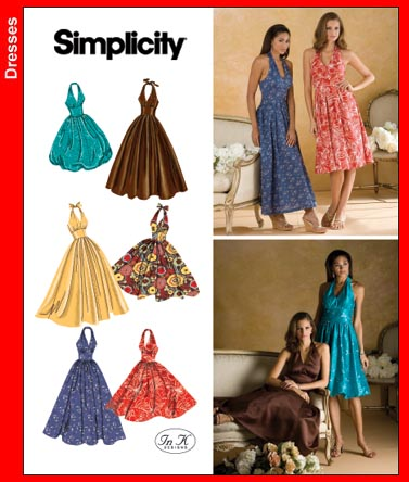 Simplicity misses halter dresses 3823