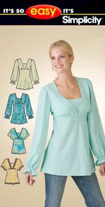 Simplicity Pullover Bias Tunic & Top 3842