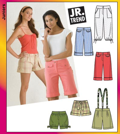 Simplicity Juniors Cropped Pants & Shorts 3849