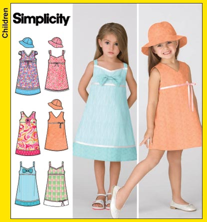 Simplicity Child Dress and Hat 3859