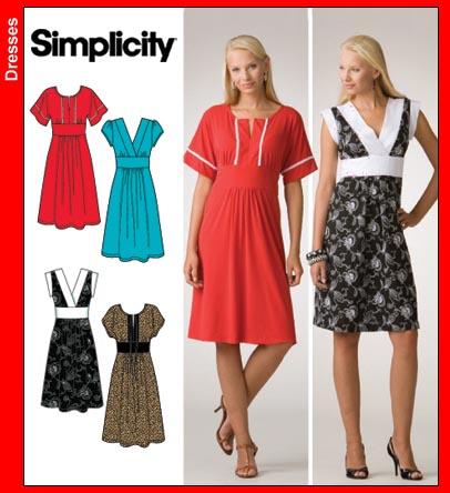 Simplicity Misses Dresses 3875