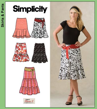 Simplicity Misses skirt and belt 3881
