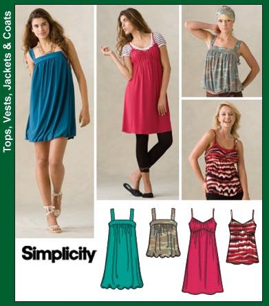 Летние трикотажные платья с выкройками . Приёмы вязания