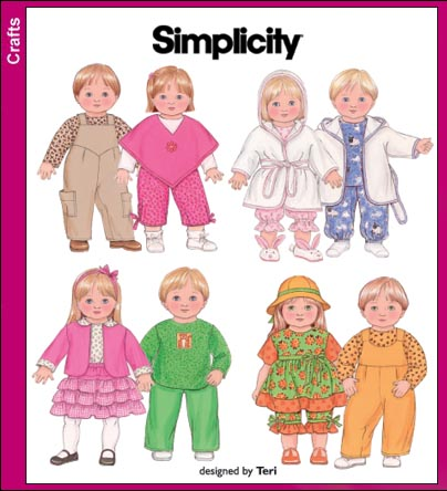 Simplicity 15 inch Doll Clothes 3886