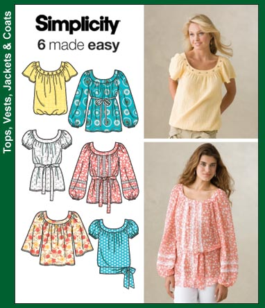 Simplicity Misses Pullover Top and Belt 3887
