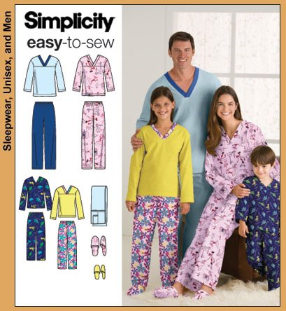 Simplicity Easy To Sew Family Pajamas 3935