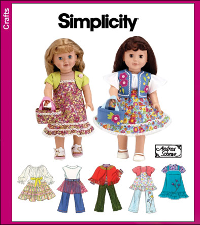 Simplicity 18 inch Doll Clothes 3936