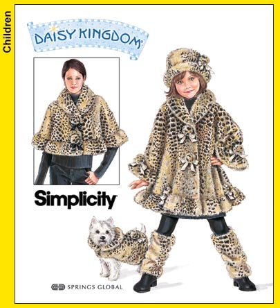 Simplicity girls/misses/dogs fur coats 3940