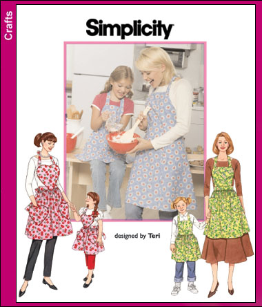 Simplicity Child and Misses Apron 3949
