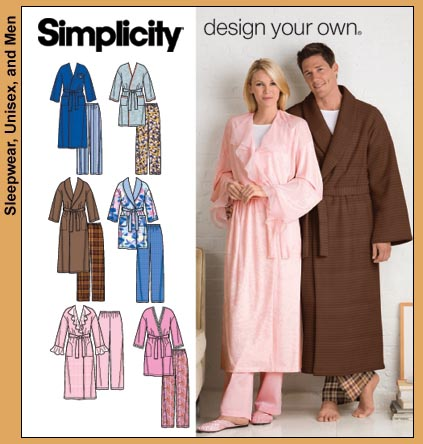 Simplicity Design your own robe and pants 3969