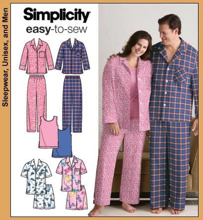 Simplicity Unisex Pajamas 3971