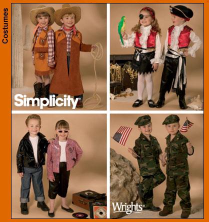 Simplicity Child Cowboy Costume 3997