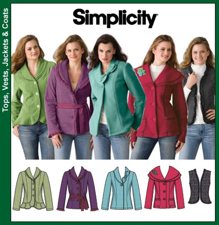 Simplicity Misses Jacket and Vest 4032