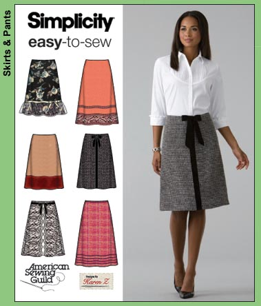 Simplicity Misses Skirts 4036