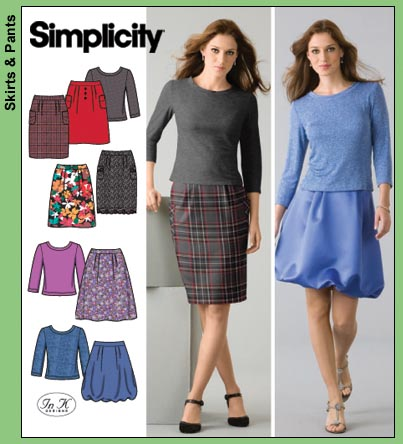 Simplicity Skirt/Top Wardrobe 4041