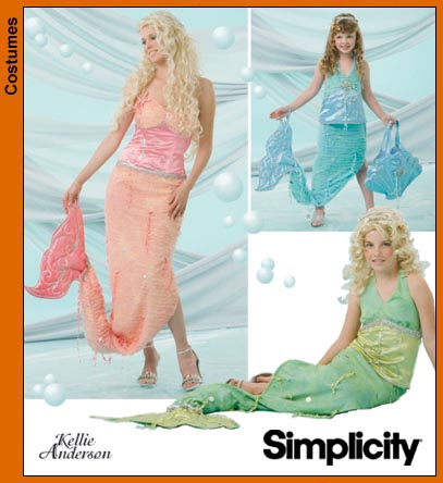 Simplicity Mermaid costume 4043
