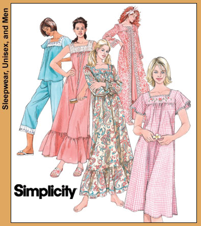 Simplicity Misses' nightgown 4048