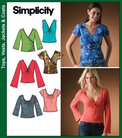 Simplicity Misses Knit Tops 4076