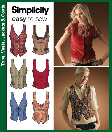 Simplicity Misses Lined Vests 4079
