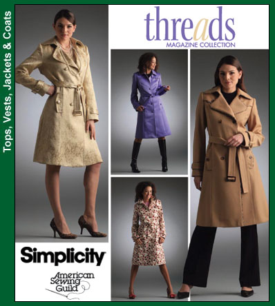 Simplicity Threads Lined Coat 4084