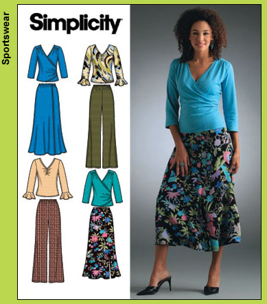 Simplicity Women's knit tops, pant, skirt 4095