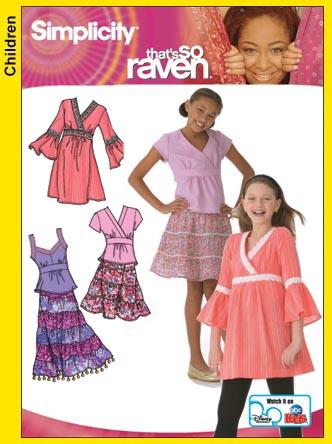Simplicity Girls Tiered Skirt 4106