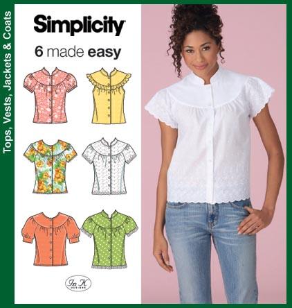 Simplicity Misses Blouses 4122