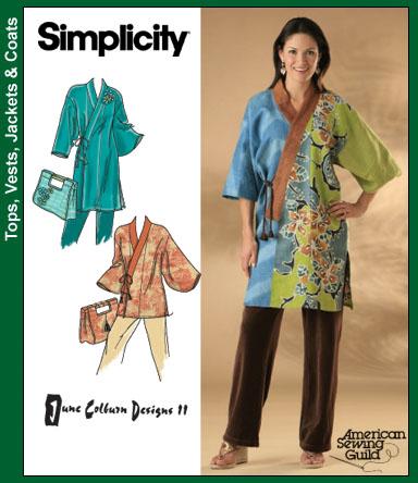Simplicity Kimono and Tote Bag 4134