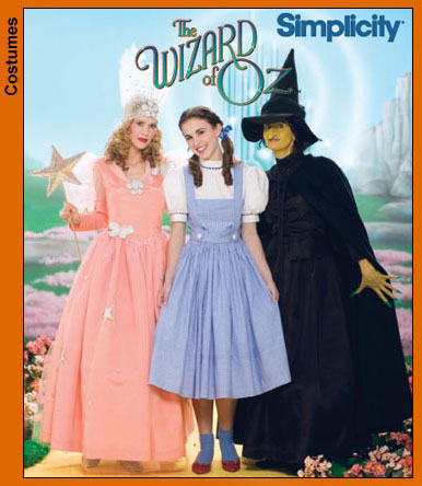 Simplicity Wizard of Oz Costumes 4136