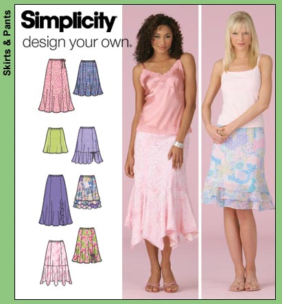 Simplicity Misses Skirts 4138