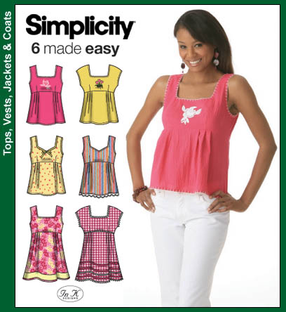 Simplicity Misses Tunic or Top 4176